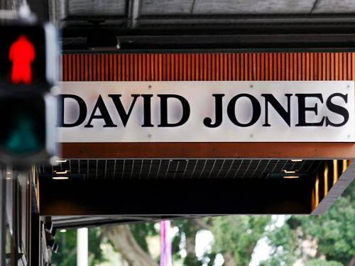 Troubled department store David Jones posted a 4.6% drop in total sales for the year to July 28. (AAP)