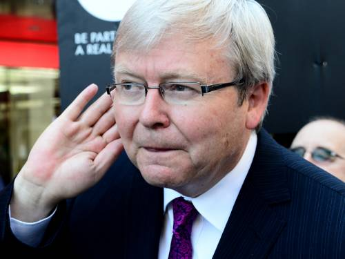 Kevin Rudd's biographer has told the former PM to swallow his pride and support the government. (AAP)