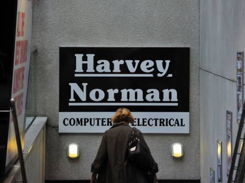 Electrical and homewares retailer Harvey Norman's full year profit has plunged 32 per cent. (AAP)