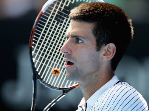 World No.1 Novak Djokovic (pic) is into the fourth round with a win over Czech Radek Stepanek. (AAP)
