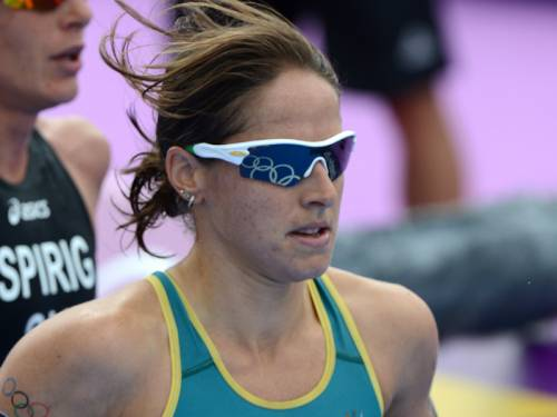 Australian Erin Densham's lead in this year's ITU triathlon world championship crown has been cut. (AAP)