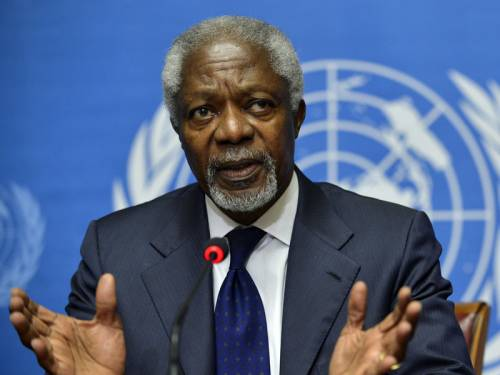 UN envoy Kofi Annan says he has agreed on a new approach with Syria's president to end the conflict. (AAP)