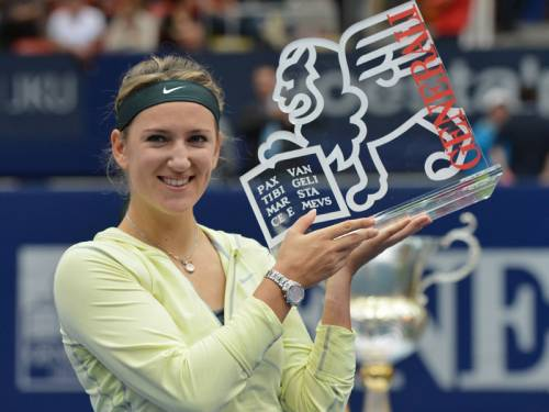 Tennis world No.1 Victoria Azarenka claimed her sixth title this season at the Linz WTA tournament. (AAP)