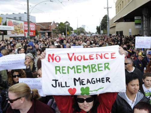 Sunday's march in memory of Jill Meagher shows Victorians want an end to violence, the premier says. (AAP)