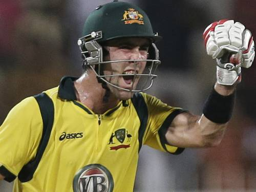 Australia have named Glenn Maxwell in a 12-man squad for Monday's Twenty20 clash with Pakistan. (AAP)