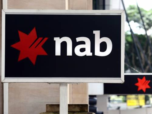 NAB shares have fallen after it raised its provisions to deal with slower global economic growth. (AAP)