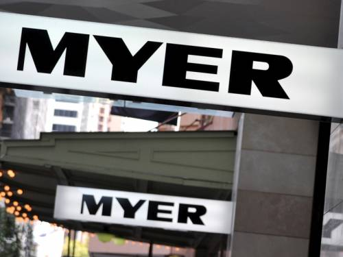 Underperforming department store Myer is expected this week to report a drop in annual profit. (AAP)