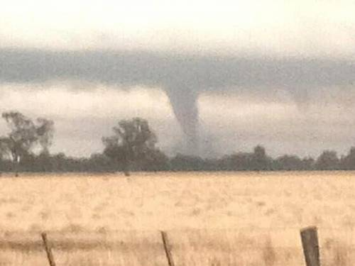Twenty people have been injured after storms and mini-tornadoes pelted northeast Victoria. (AAP)