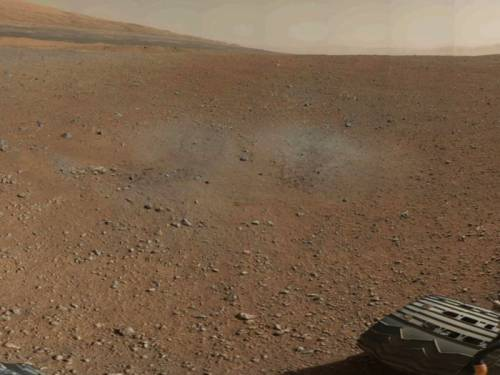 The Mars rover Curiosity has sent back the first colour panorama of its landing site. (AAP)