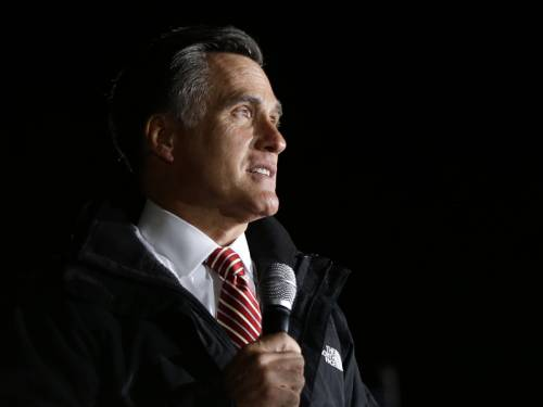 Presidential candidate Mitt Romney is trying to keep voters focused on the US economy. (AAP)