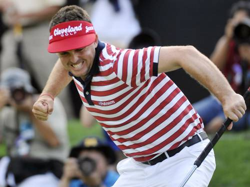 Keegan Bradley snatched victory at the Bridgestone Invitational on the final hole of the tournament. (AAP)