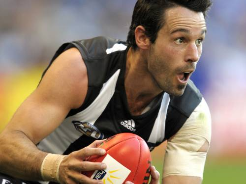 Collingwood's Alan Didak will miss their AFL preliminary final against Sydney due to injury. (AAP)