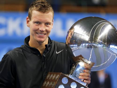 Tomas Berdych won his second ATP title this year after winning the Stockholm Open final. (AAP)