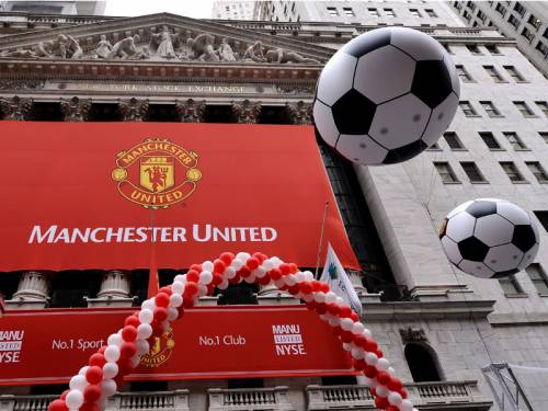 Soccer club Manchester United has made a disappointing debut on the New York Stock Exchange. (AAP)