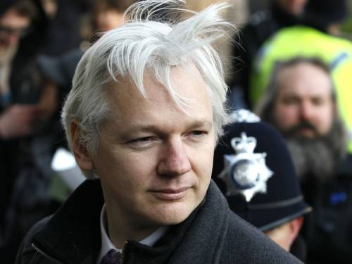 Assange has been granted political asylum by Ecuador but faces arrest if he leaves the embassy after breaking bail conditions. (AAP)