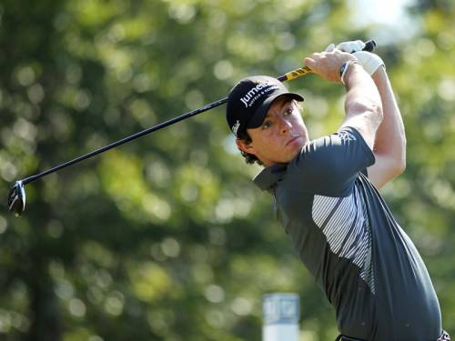 Rory McIlroy has moved into a one shot lead after the second round of the US PGA event in Boston. (AAP)