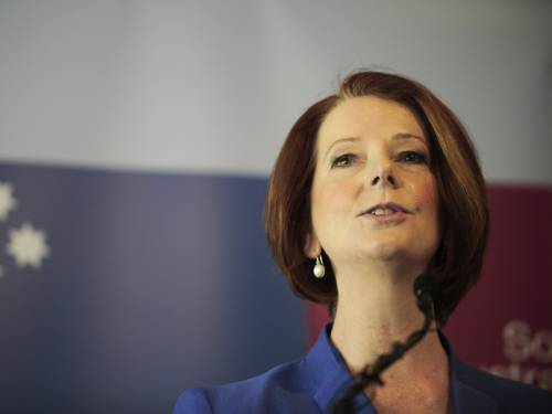 Voter satisfaction with Ms Gillard has eased one point to 35 per cent while dissatisfaction firmed one point to 51 per cent. (AAP)