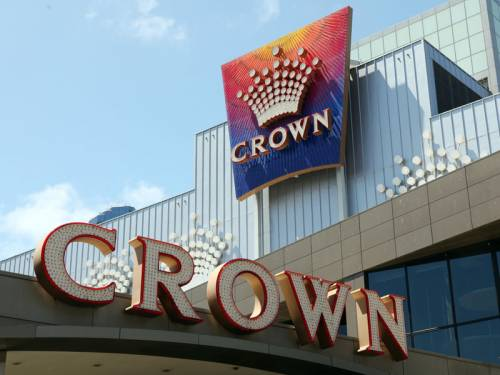 Casino operator Crown has grown its full year profit by 53 per cent but says gambling has slowed. (AAP)