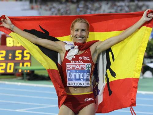 Spanish steeplechase champion Marta Dominguez says she is planning to compete in marathons. (AAP)