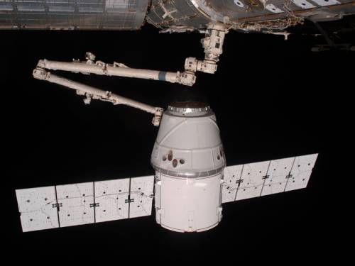 The capsule delivered about 450 kilograms of cargo to the space station and is taking home 758kg of supplies, hardware and scientific tests and results. (AAP)