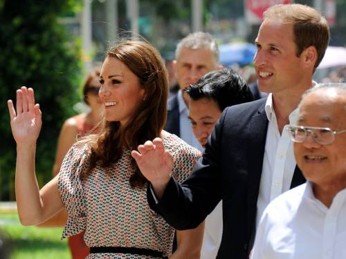 The Duke and Duchess of Cambridge will visit the Kranji war memorial in Singapore on Thursday. (AAP)