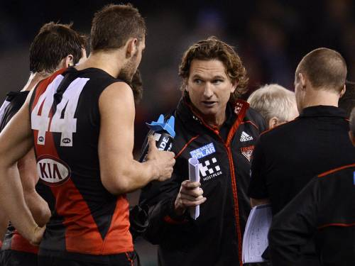 Essendon coach James Hird says his club is preparing for a cut-throat clash against Carlton. (AAP)