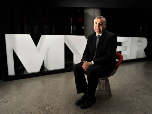 Myer boss Bernie Brookes received a 4.4 per cent pay rise in 2012 while the retailer's profits fell. (AAP)