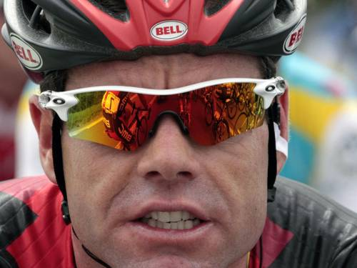 Australian cyclist Cadel Evans finished sixth in a chaotic third stage of the Tour de France. (AAP)