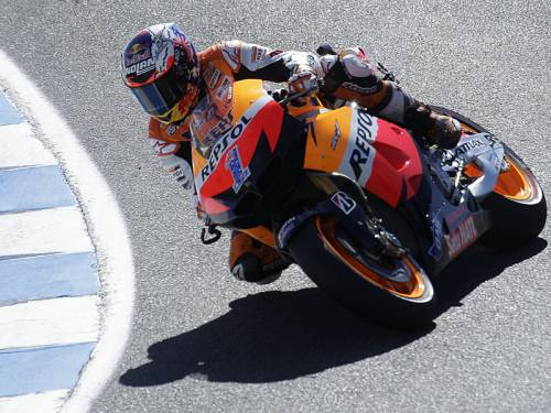 Casey Stoner claimed his second consecutive Moto GP US Grand Prix at Laguna Seca Raceway. (AAP)