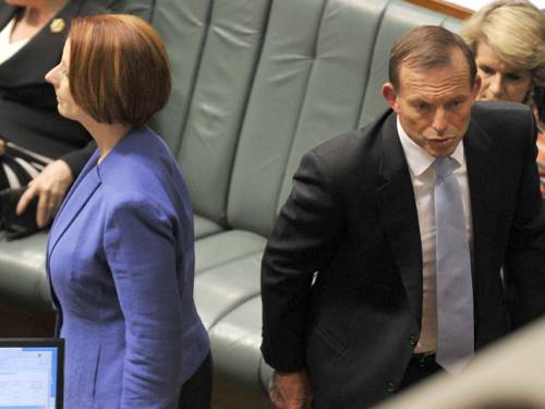 Tony Abbott says PM Julia Gillard is responsible for Labor's personal attacks against him. (AAP)