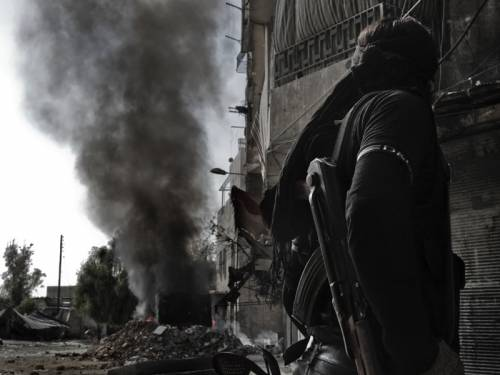 Heavy air raids by Syrian war planes and two car bombs have rocked the Syrian capital Damascus. (AAP)