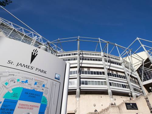 The home ground of EPL club Newcastle will again be called St James' Park from next season. (AAP)