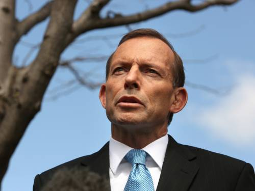 Tony Abbott will outline the defence strategy of a future coalition government on Tuesday. (AAP)