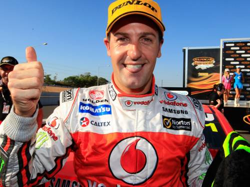 Defending V8 Supercars champion Jamie Whincup was quickest in practice for the Bathurst 1000. (AAP)