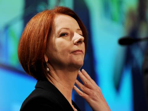 PM Julia Gillard has warned in a YouTube video that the apocalypse will hit this December. (AAP)