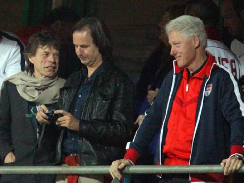 Mick Jagger from the Rolling Stones and former US president Bill Clinton are just two of the stars to have been spotted in South Africa (AAP)
