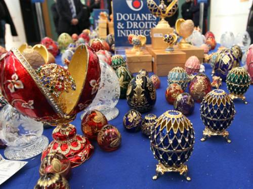 Faberge confirmed that the eggs were not the real thing. (Getty)