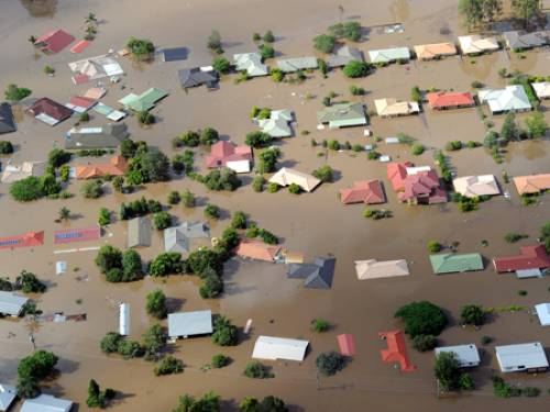 The Queensland floods have killed 16 people since the downpour started last month, inundating towns. (AAP)