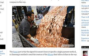 Fake: Claims Samsung paid Apple fine in 5-cent coins