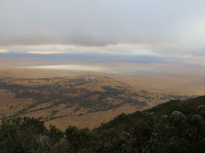 Ngorongoro caldera at dawn