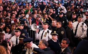 Protests have spread from New York to other cities around the world. (AAP)