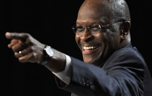 Herman Cain has been described as a 'puppet' for billionaire right-wing lobbyists. (Getty)