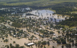 Floods devastated banana and other crops in north Queensland. (File AAP)