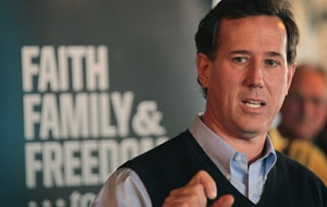 Republican Presidential candidate Rick Santorum (Getty)