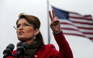 Republican 'Mama Grizzly'-in-chief Sarah Palin, roused the faithful at a packed rally in Orange Country, south of Los Angeles. (FILE)