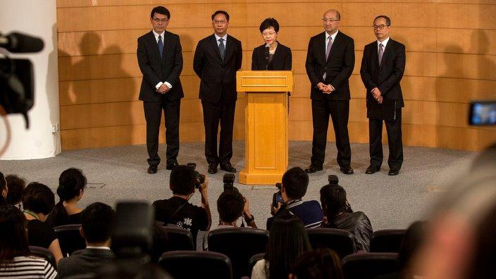 政務司司長林鄭月娥於會後召開記者招待會