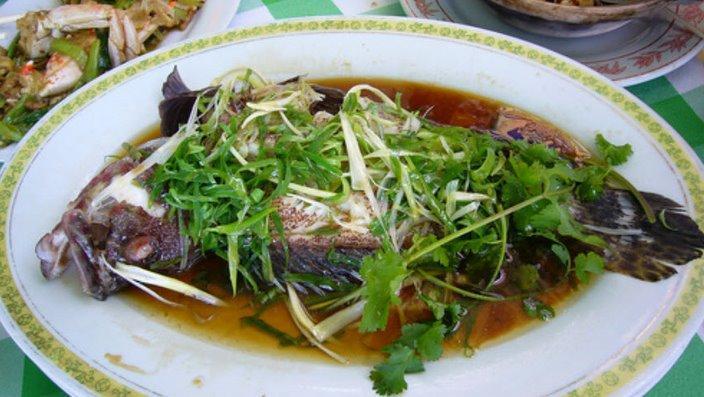 美味的蒸魚