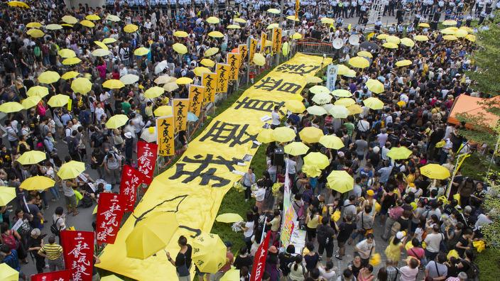 Pro democracy activists gathered in Admiralty for 1st Anniverary