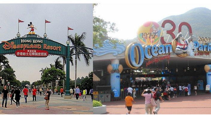 HK Disneyland Ocean Park