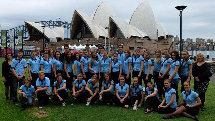Kühnův dětský sbor v Opeře v Sydney v Austrálii